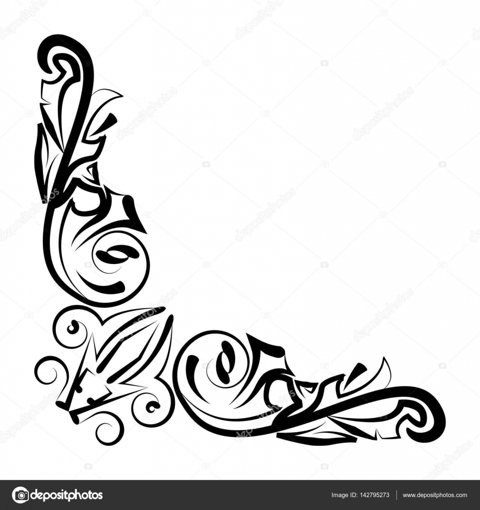 decorative border design � stock vector 169 angbay 142795273