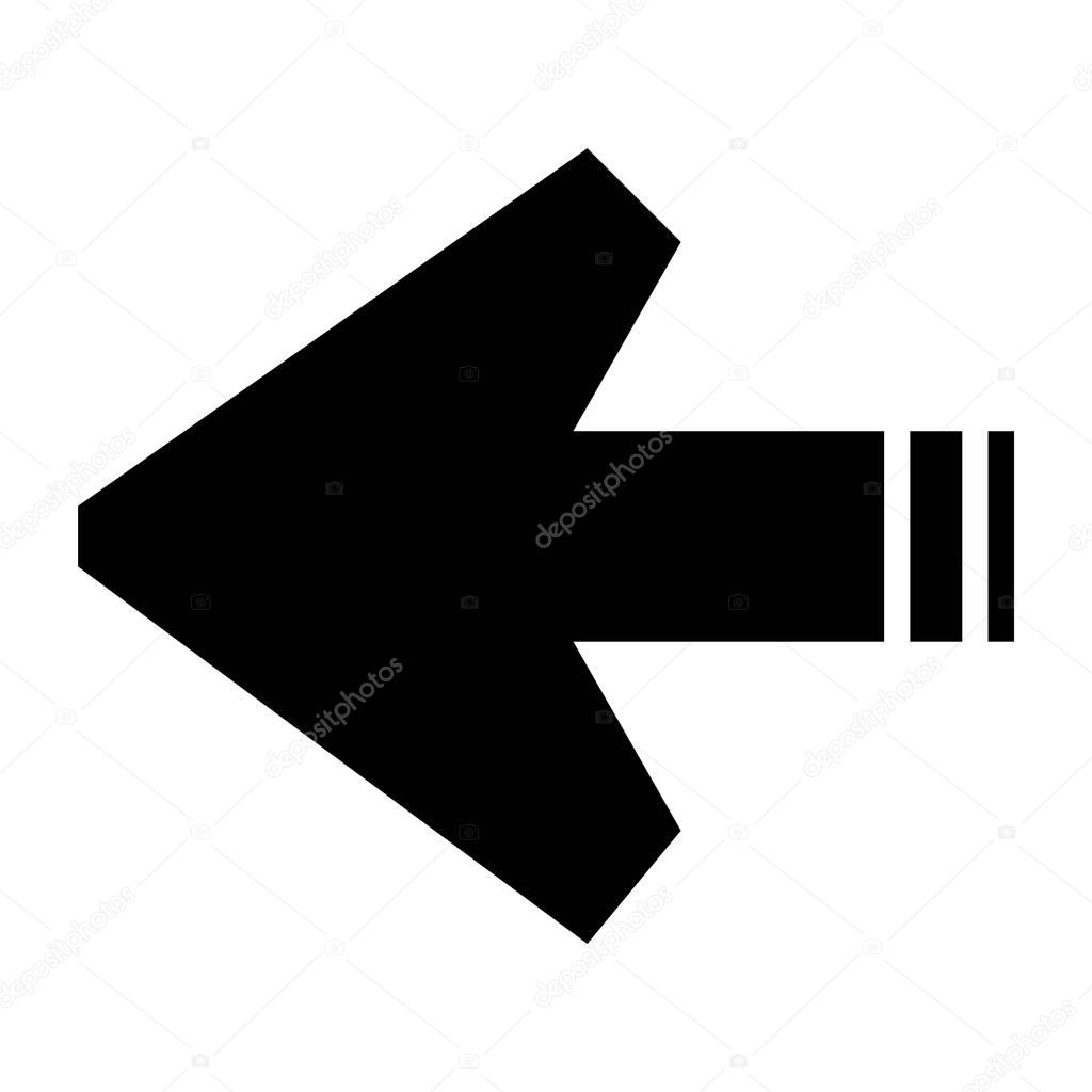 flat black arrow icon