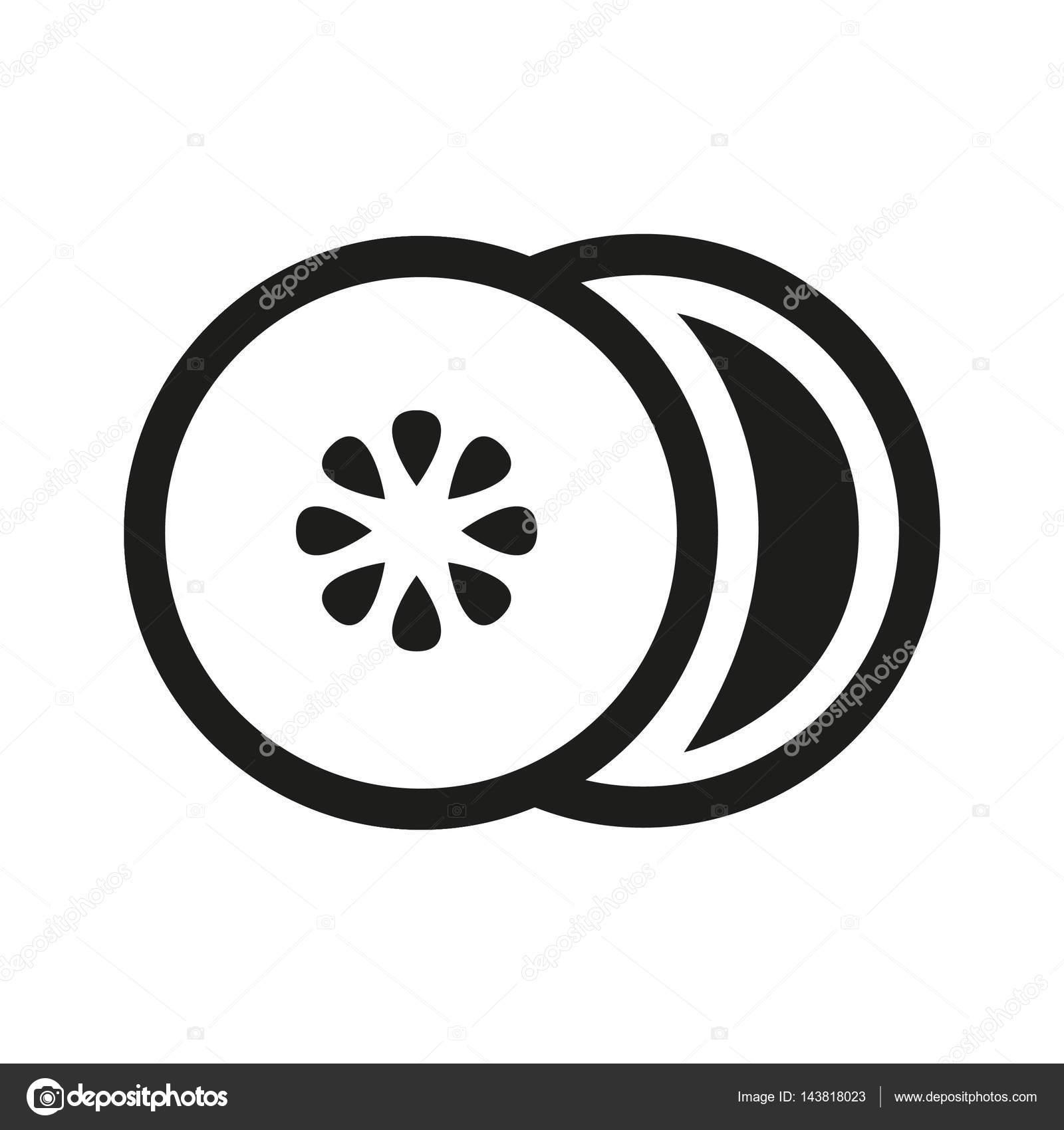 Lemon Slice Icon Stock Vector