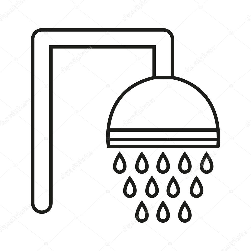 simple shower icon