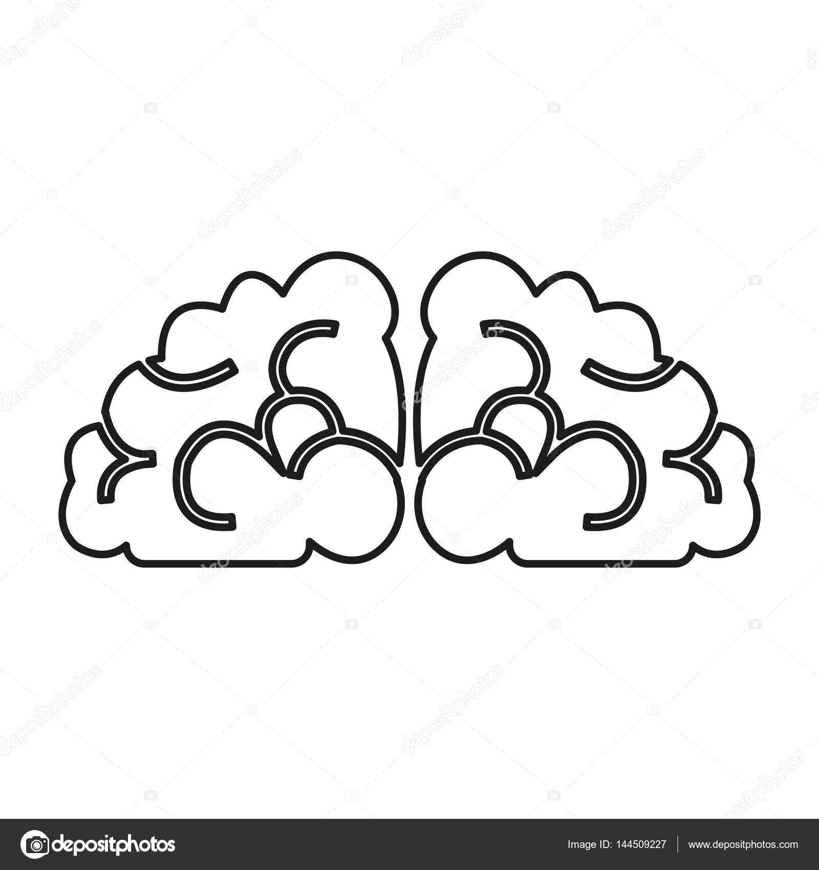 simple brain icon  u2014 stock vector  u00a9 angbay  144509227