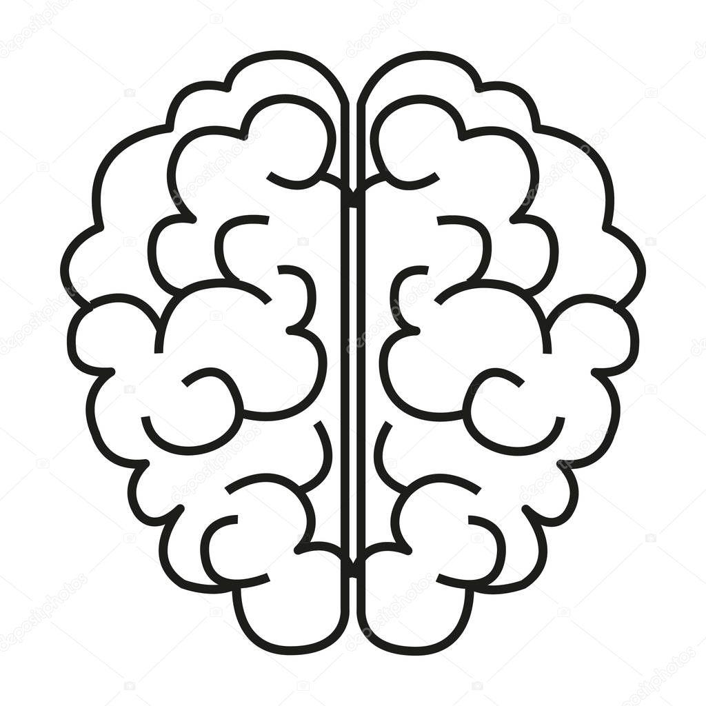 ic u00f4ne simple cerveau  u2014 image vectorielle angbay  u00a9  144509143