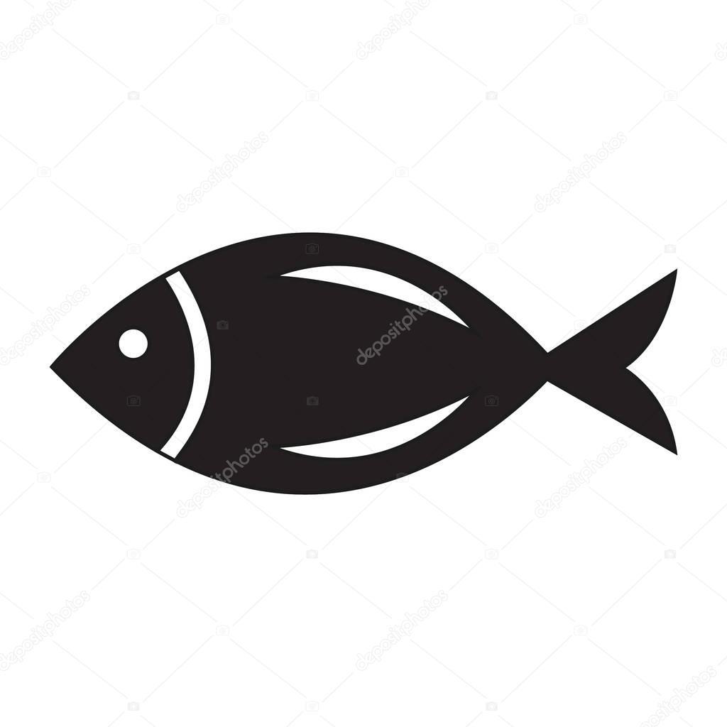 Simple fish icon