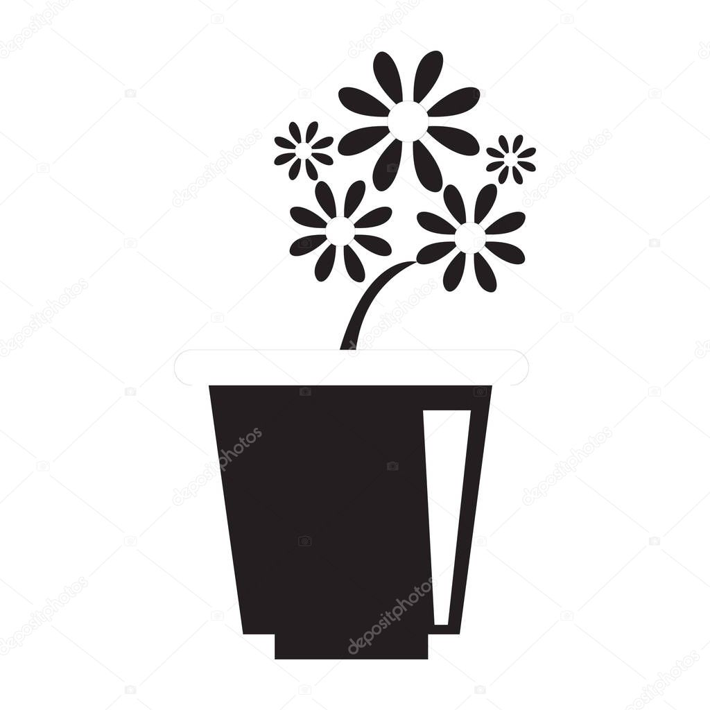 Simple flower icon