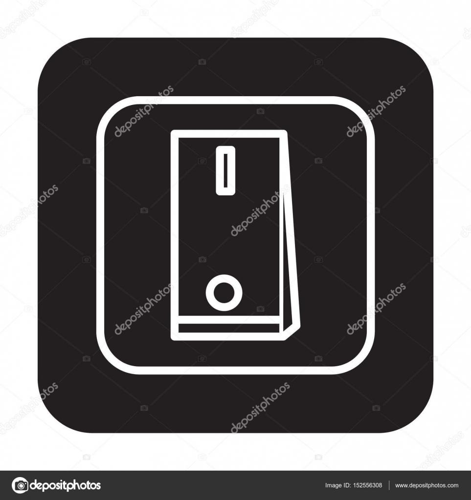 Flache schwarze Schalter Symbol — Stockvektor © AngBay #152556308