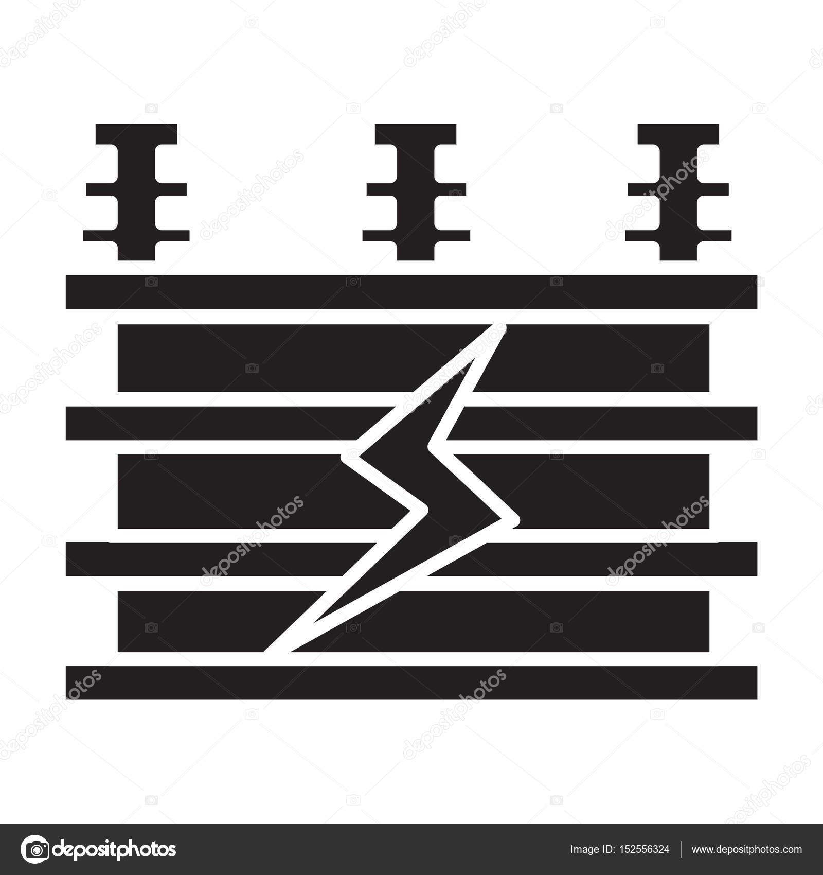 Flache schwarze elektrischen Transformator-Symbol — Stockvektor ...