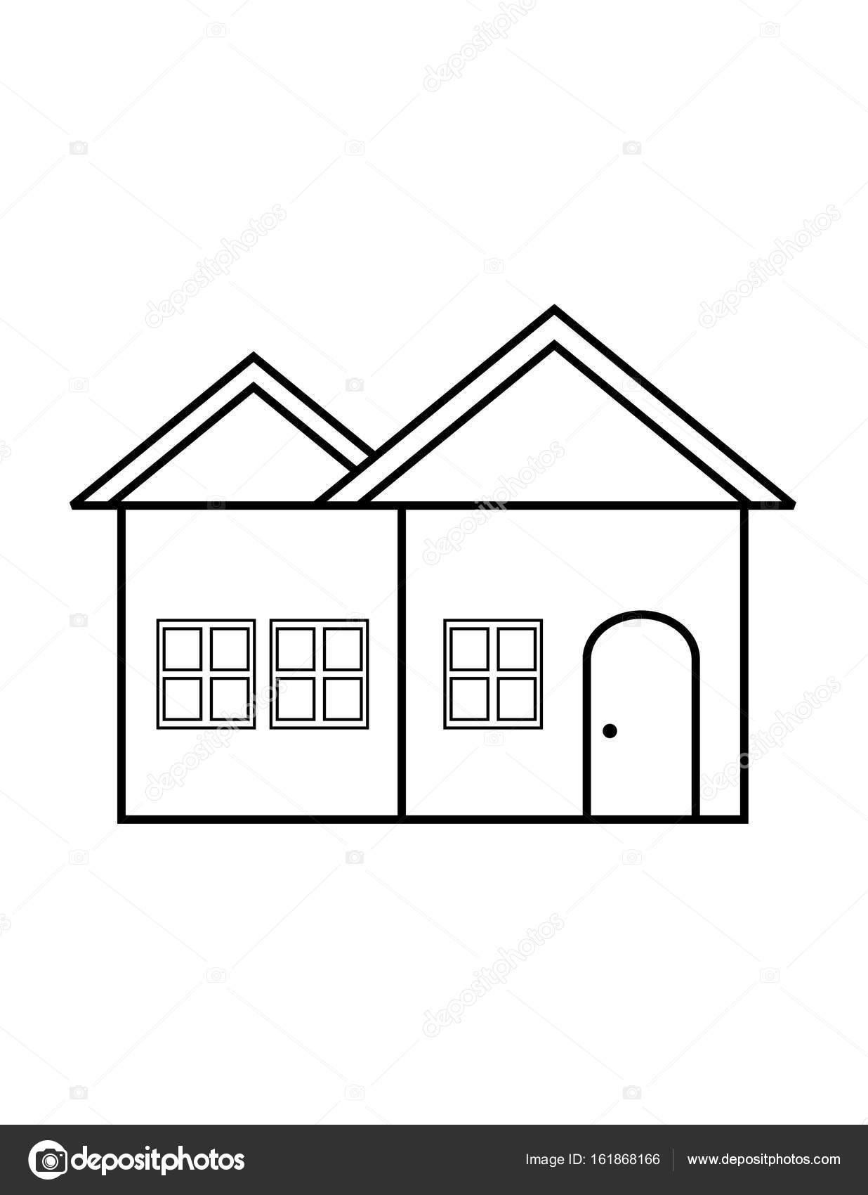 Ince çizgi Ev Simgesini Stok Vektör Angbay 161868166