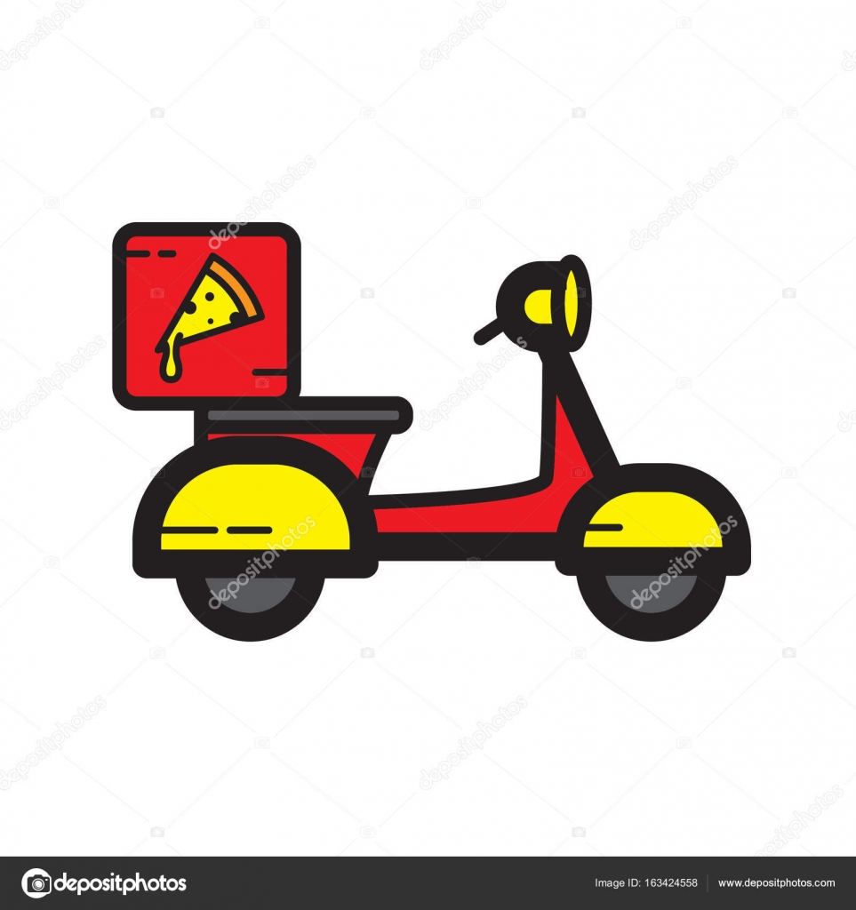 Icono de color plano entrega pizza — Vector de stock © AngBay #163424558