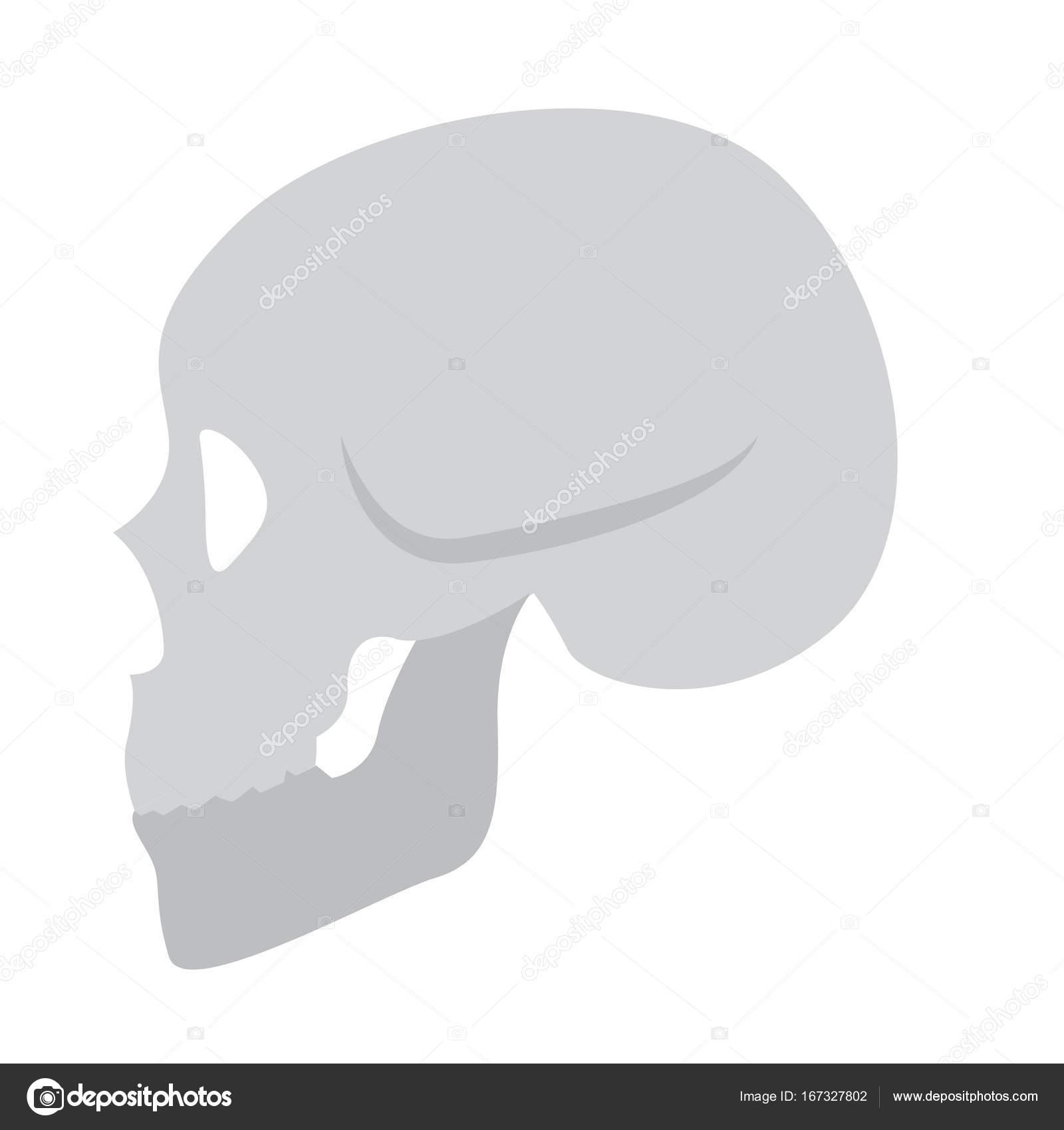 Icono de esqueleto plano color — Archivo Imágenes Vectoriales ...