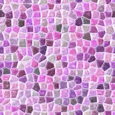 pastel pink, purple and violet colored abstract marble irregular plastic stony mosaic pattern texture seamless background with white grout