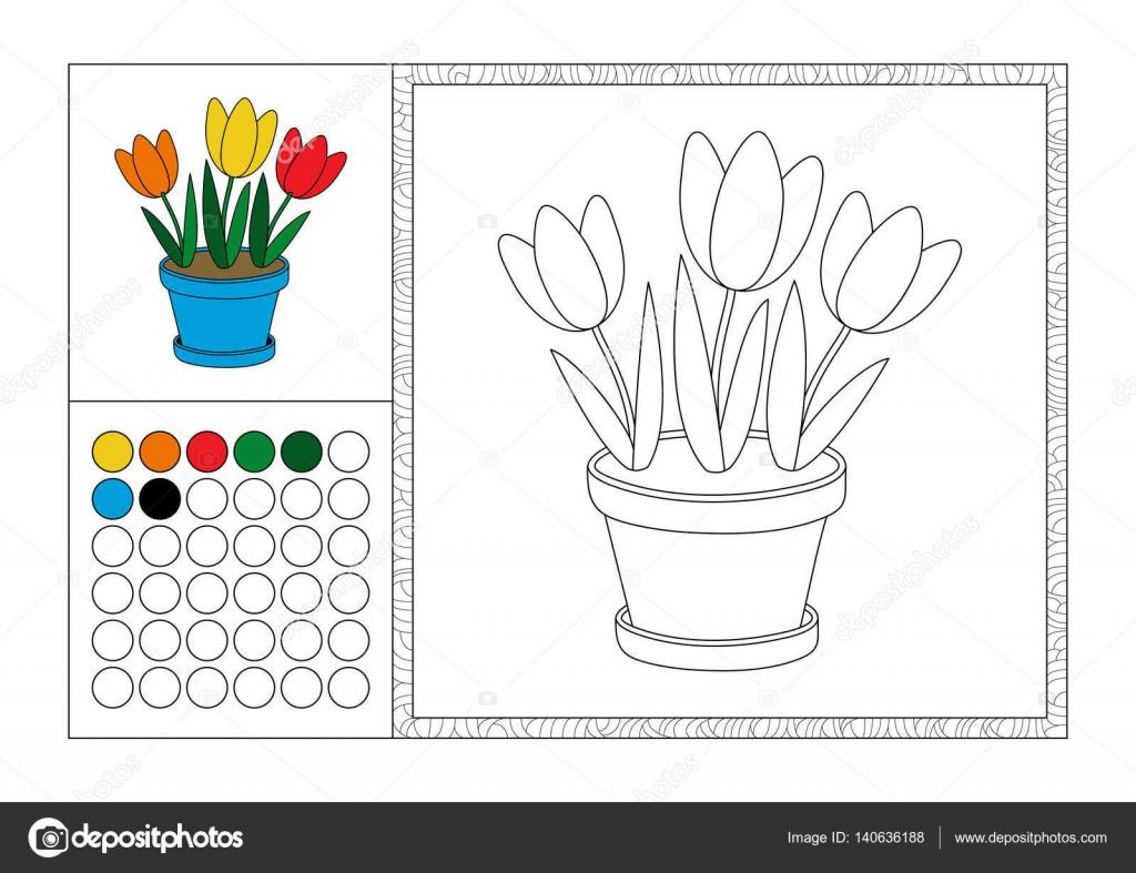 Adulte livre coloriage avec mod le couleur cadre d coratif et color swatch photo contour - Coloriage avec modele ...