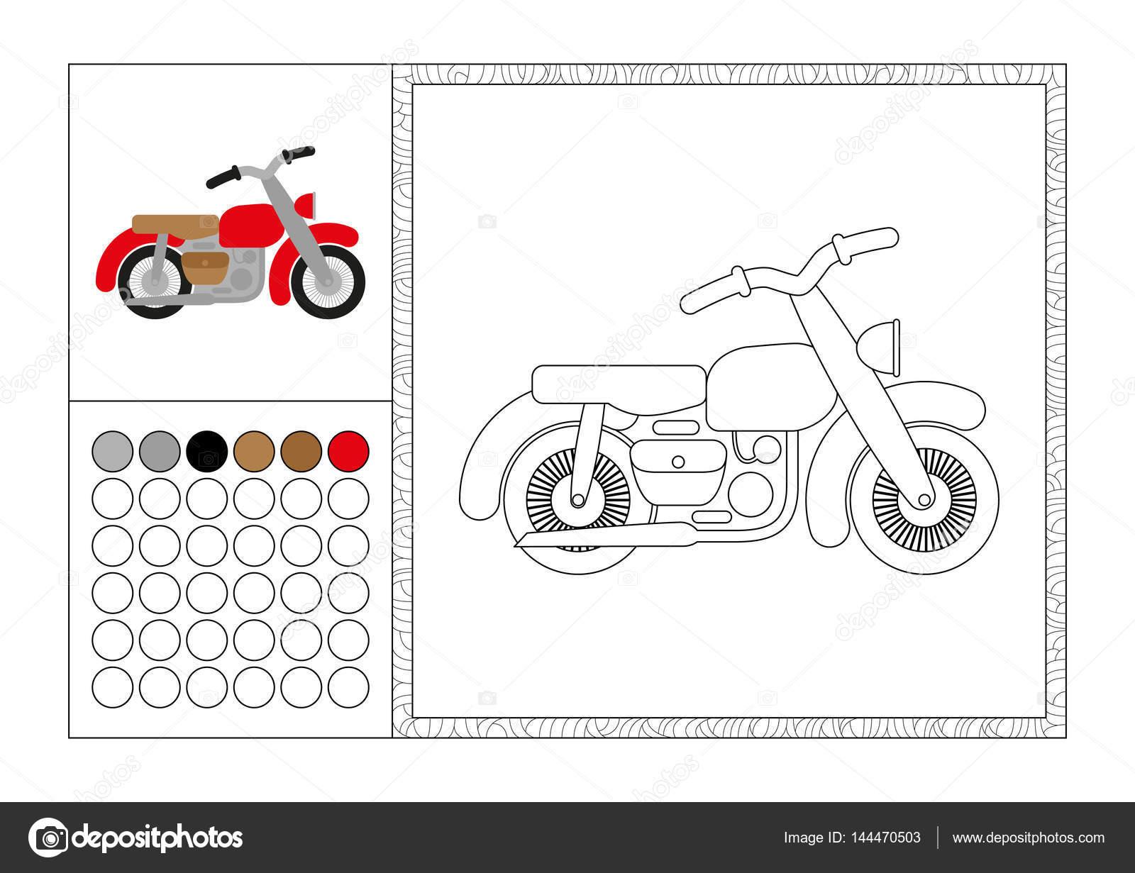 Yetişkin Kitap Sayfa Renkli şablonu Dekoratif çerçeve Ve Renk Renk