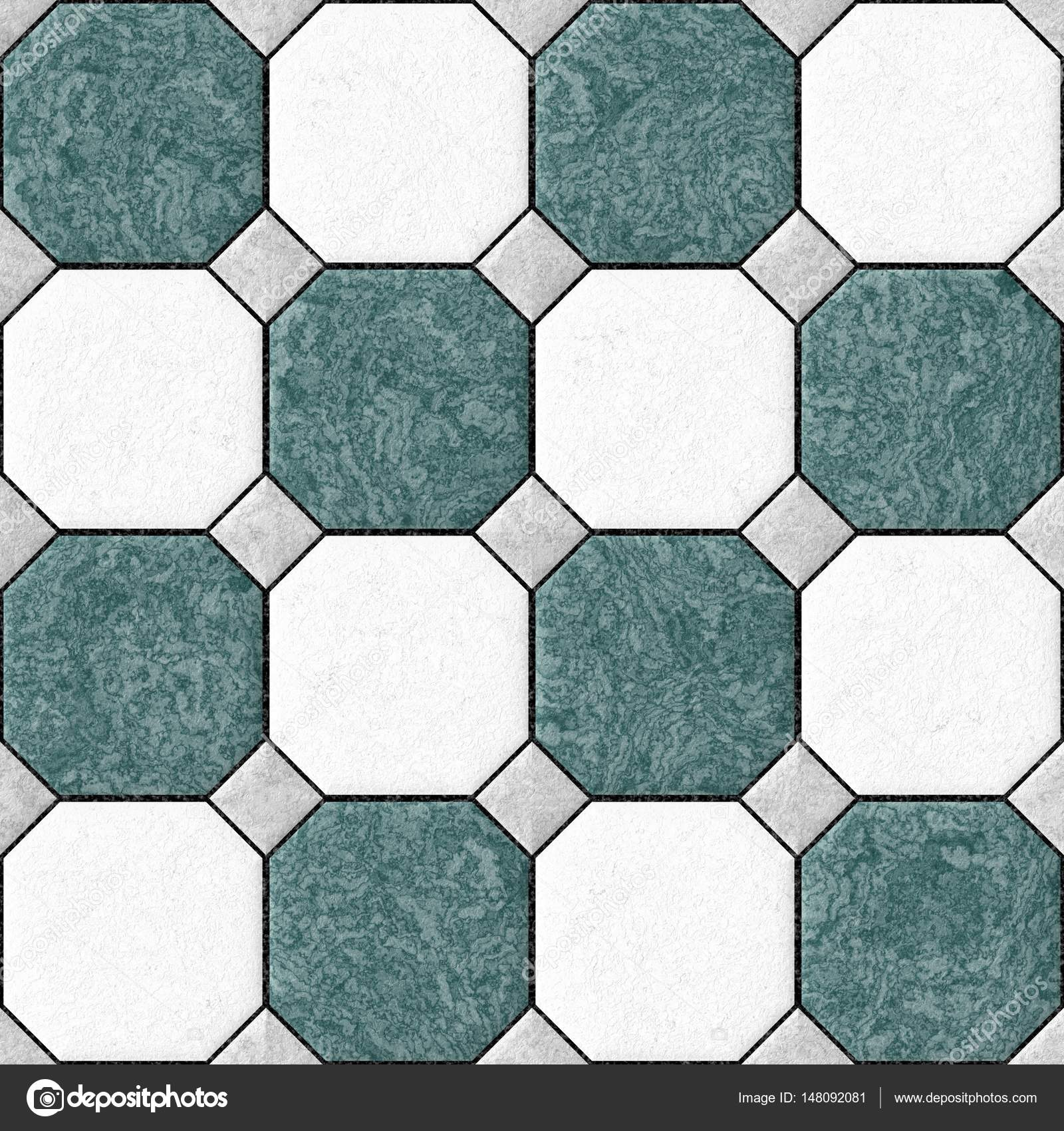 marble square floor tiles with gray rhombs and black gap seamless ...
