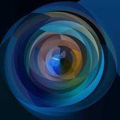 Abstraktní moderní umění geometrické spirála pozadí - tmavě modré barvy
