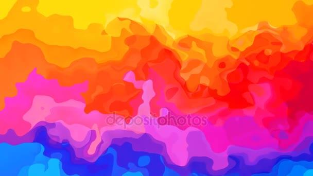 abstraktní, animované obarví pozadí video - celé spektrum barev - horizontální rainbow