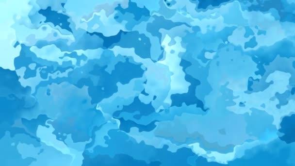 abstrakte animierte gefärbte Hintergrund nahtlose Schleife Video - himmelblaue Farben