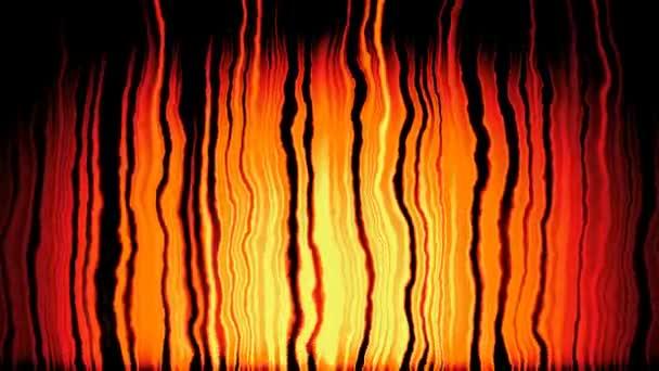 animierte Feuerflammen Hintergrund nahtlose Schleife Video - gelb, orange und schwarz Farben