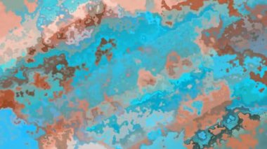 seamless water texture animation. Abstract Animated Stained Background Seamless Loop Video Turquoise Blue, Brown And Old Pink Colors Water Texture Animation