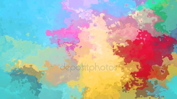 abstraktní, animované obarví pozadí bezešvé smyčka video - pastelové barvy celé spektrum