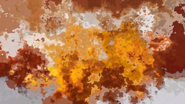 Riepilogo animato macchiato ciclo senza cuciture sfondo video - colori ocra, marrone, beige e grigio del grunge