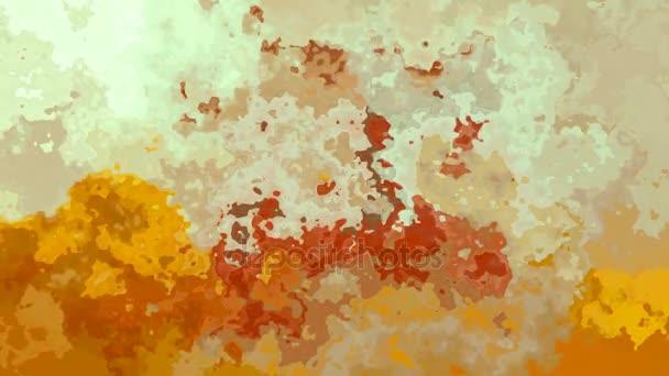 Riepilogo animato macchiato ciclo senza cuciture sfondo video - sporchi colori ocraceo, beige e marroni