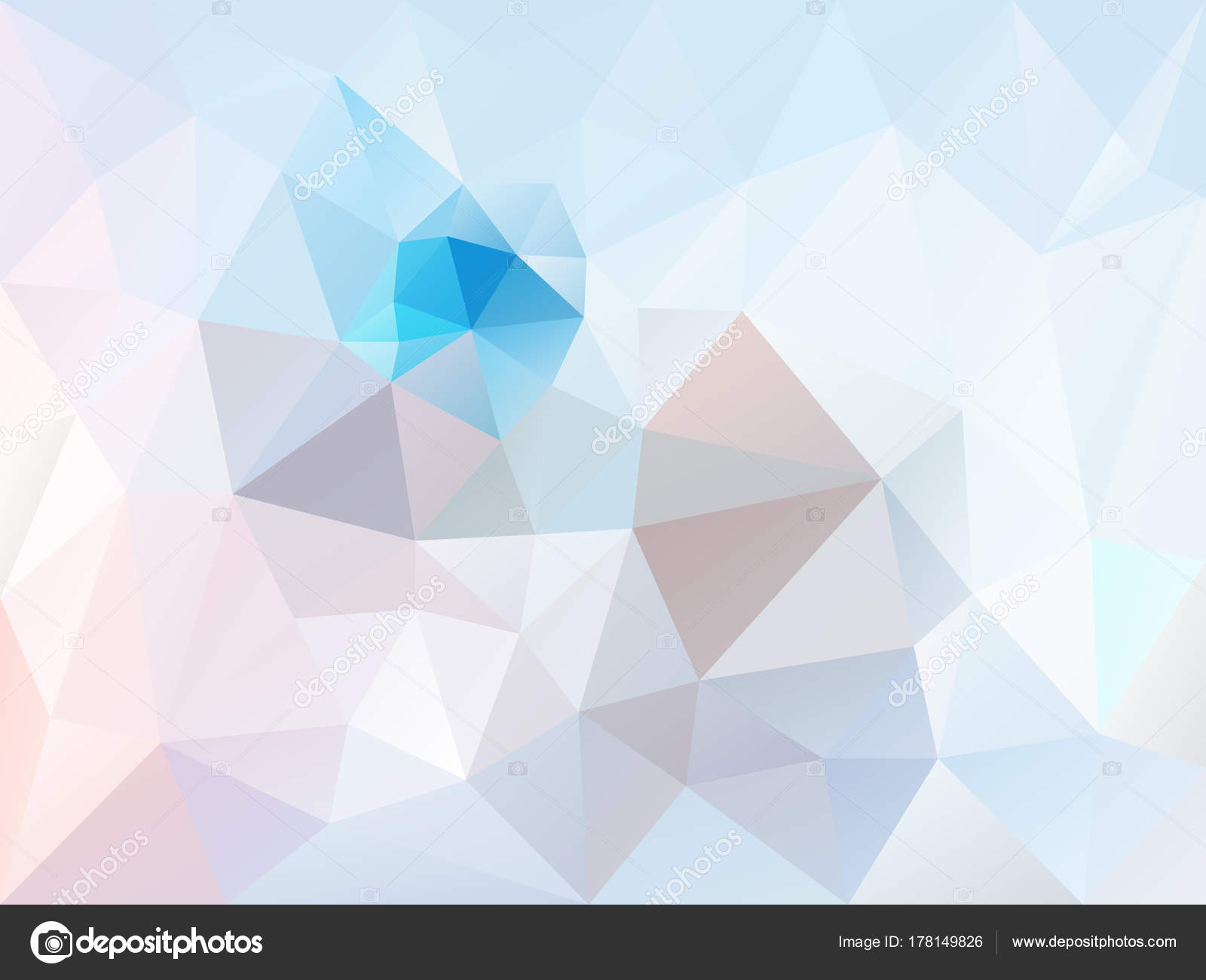 Vector abstract irregular polygon background with a triangle