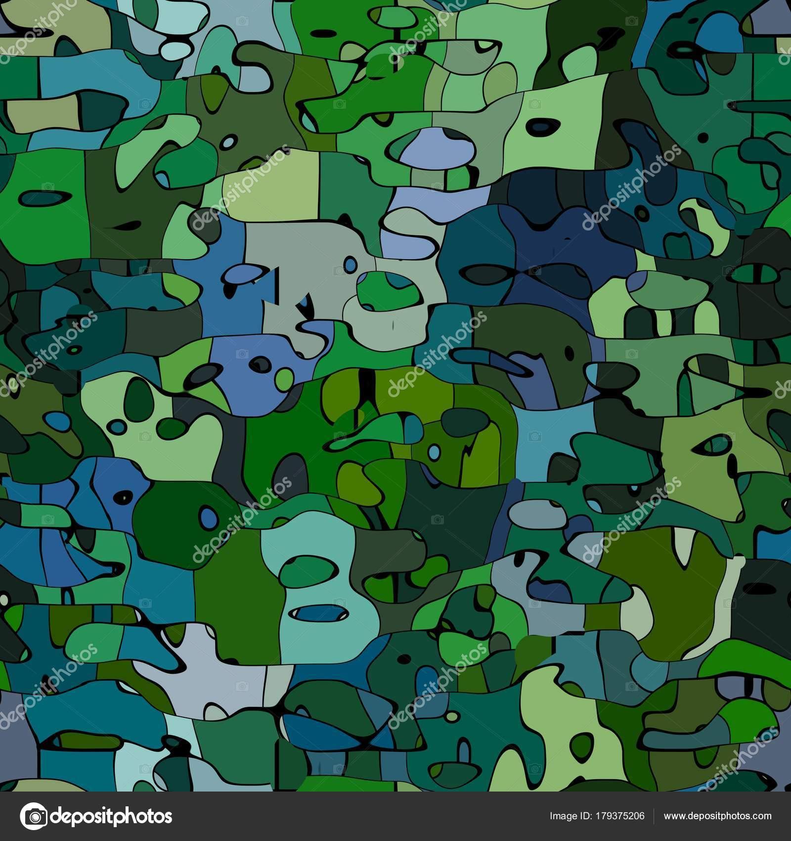 Astratto Modello Macchiato Texture Sfondo Militare Colore Verde E