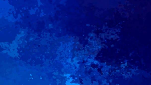 abstraktní, animované obarví pozadí bezešvé smyčka video - vytvoří efekt vodových barev - živé střední Safírové modré barvy