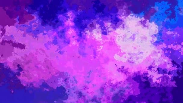 absztrakt animált háttér folyamatos hurok videóinak - akvarell hatás - levendula lila lila kék színű festett