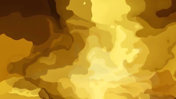 macchiato astratto animato sfondo seamless loop video - effetto acquerello - colore oro - giallo, beige e marrone