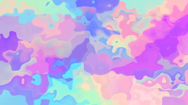 abstraktní, animované obarví pozadí bezešvé smyčka video - vytvoří efekt vodových barev - holografické pastelové celé barevné spektrum