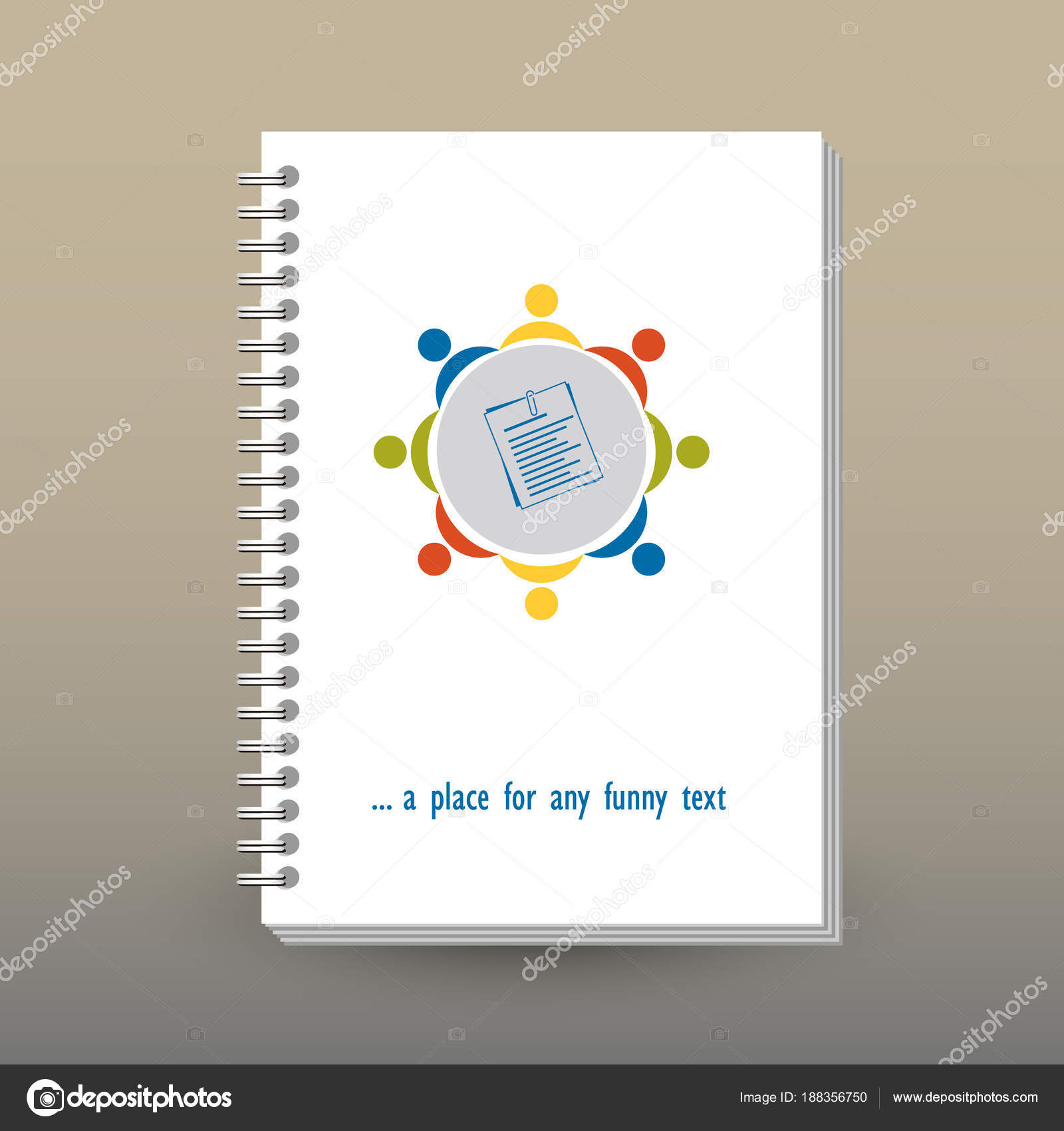 Terrific Vector Cover Of Diary Or Notebook With Ring Spiral Binder Home Interior And Landscaping Ologienasavecom