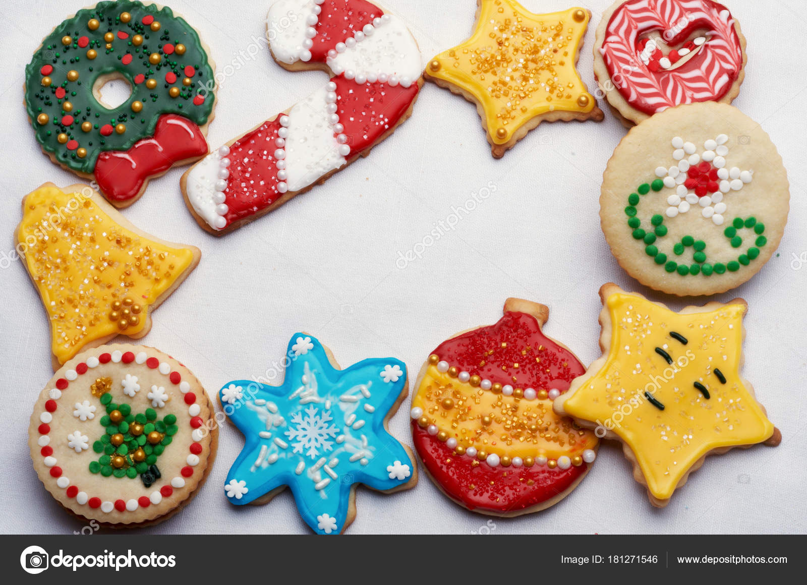 Intricately Decorated Christmas Cut Out Cookies Highly Designed