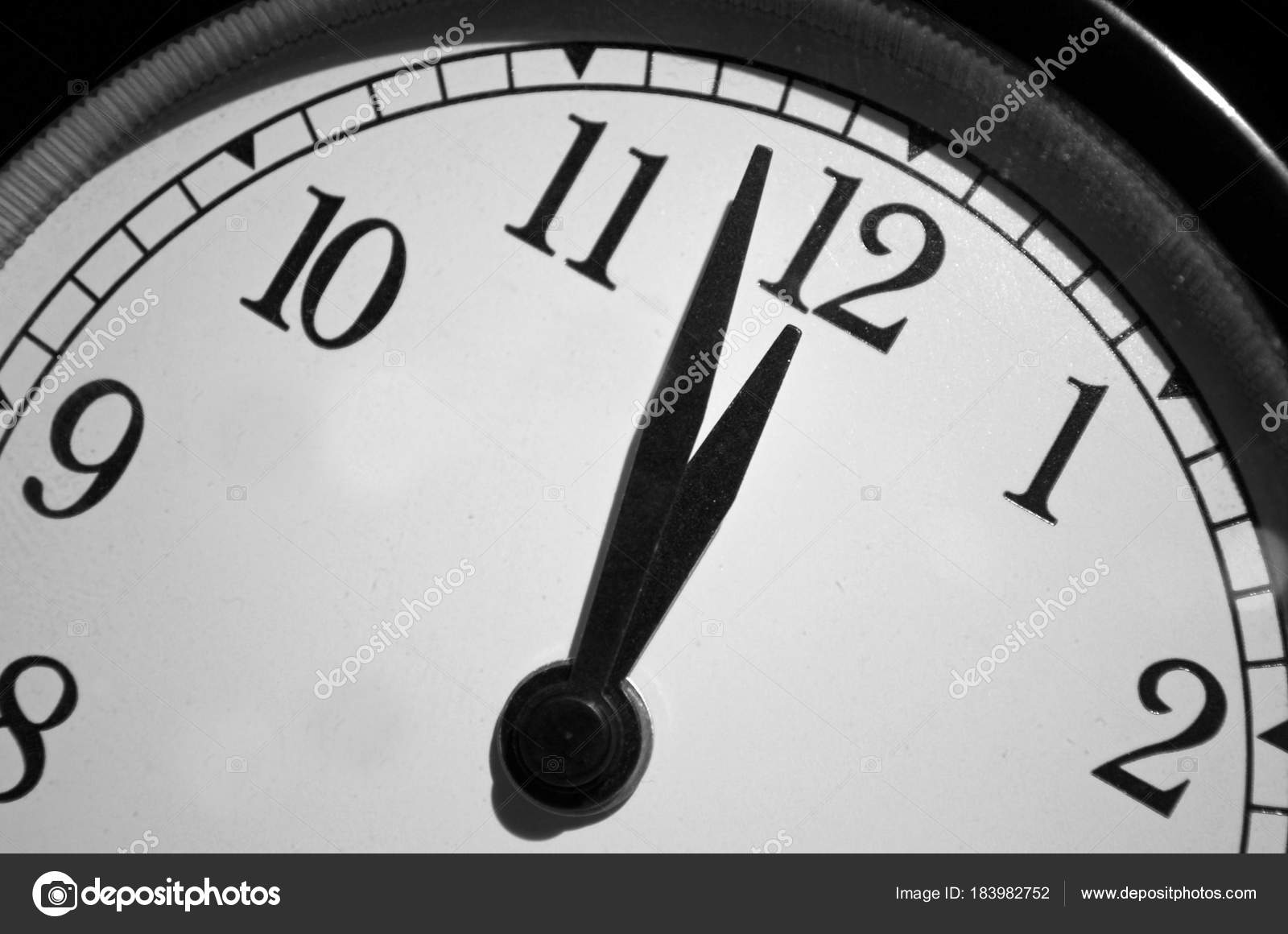 Doomsday Clock Alarm Clock Set Two Minutes Midnight Represent How