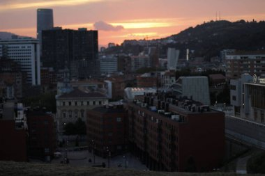 Urban view on the city of Bilbao