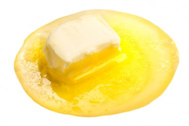 Melted butter piece floating