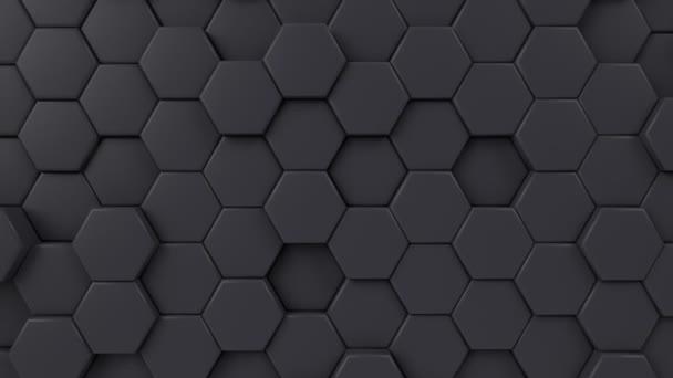 sechseckig beweglicher Schleifenhintergrund. animierte Sechsecke, Wabenmuster. 3D-Darstellung von Bewegungsgrafiken.