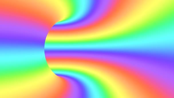 Spektrum pszichedelikus optikai illúzió. Absztrakt szivárvány hipnotikus animált háttér. Fényes hurkolás színes tapéta