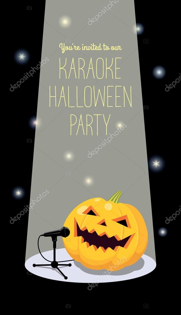 Invitation to Halloween karaoke party — Stock Vector © Spoorloos ...