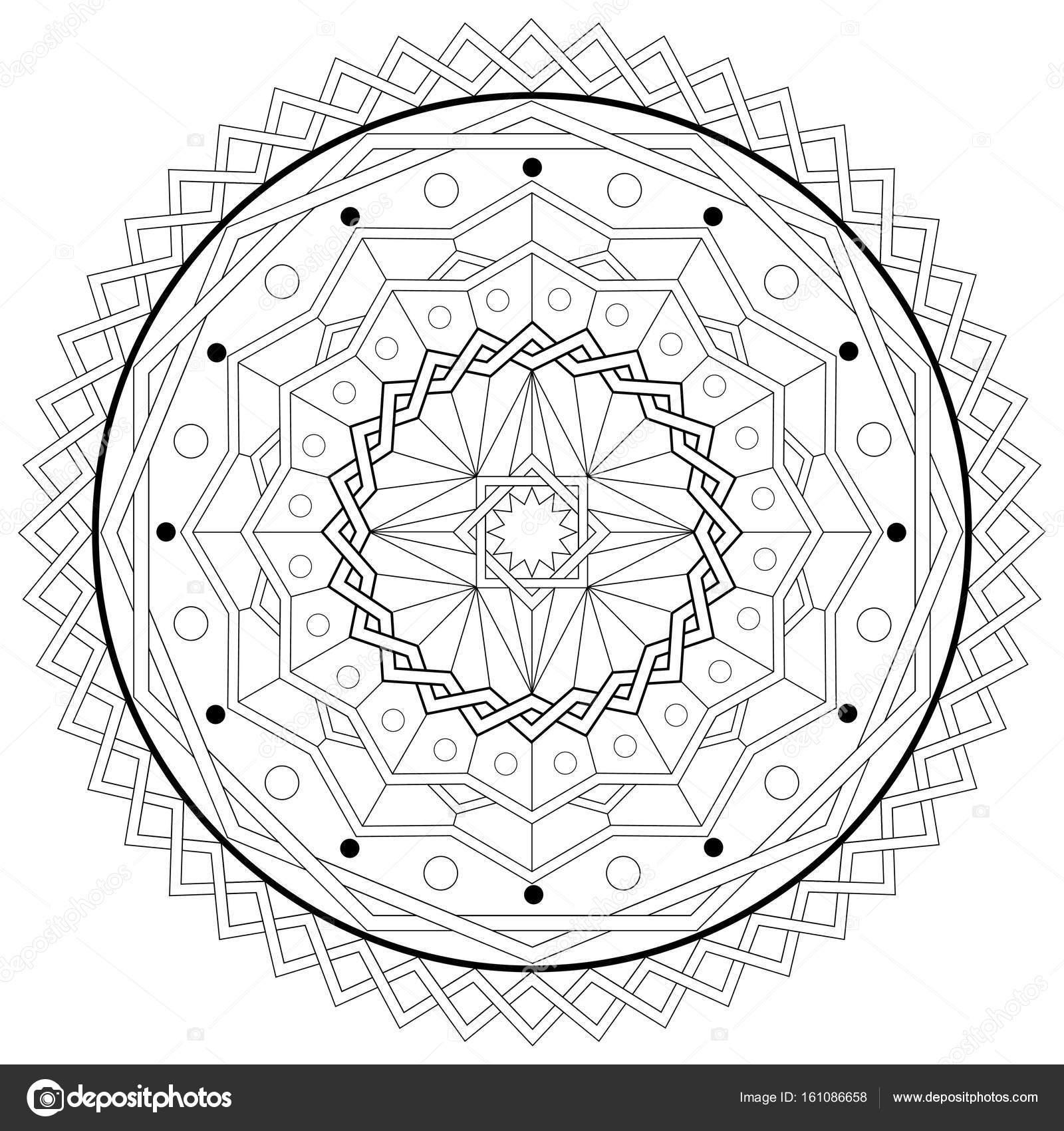 Mandala Coloring Book Template - druckbare Vektor eps10 ...
