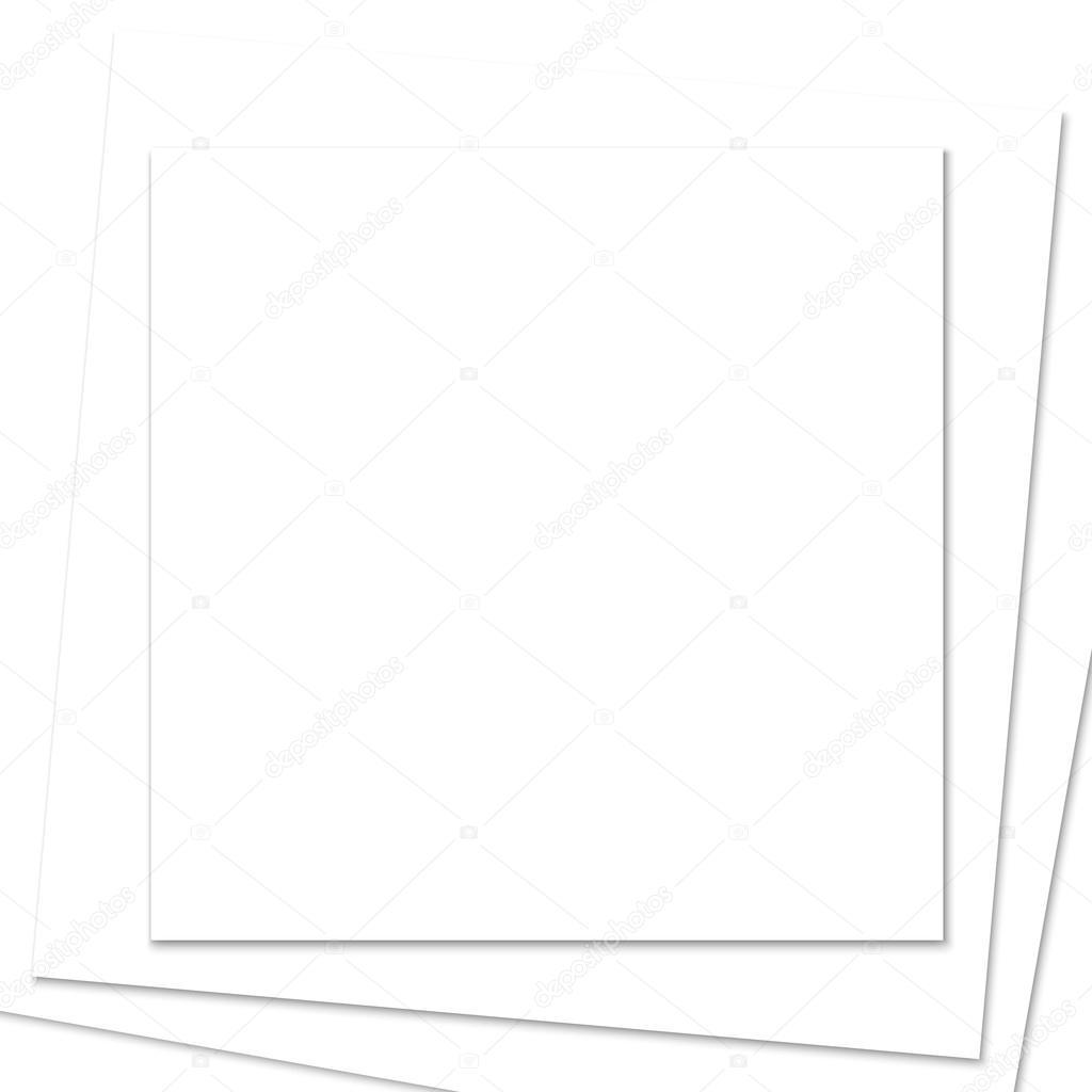 Gestapelte quadratischen weißen Papier Rahmen — Stockvektor ...