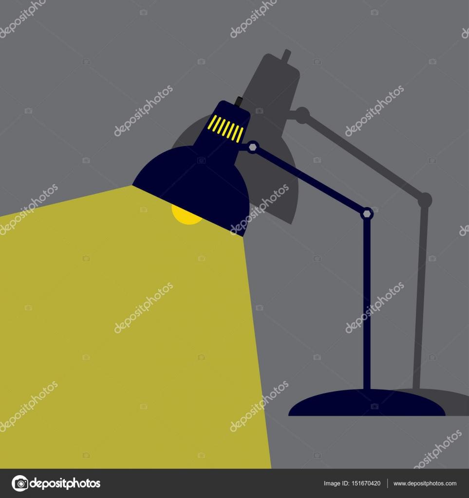 Beleuchtung Lampe Flat Style Mit Schatten Vektor Illustration U2014 Vektor Von  IceHawk