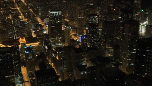 4k Ultrahd Timelapse Night in Chicago city center