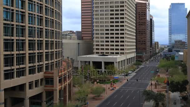 4k Ultrahd Timelapse lenézett a Phoenix, Arizona városközpont