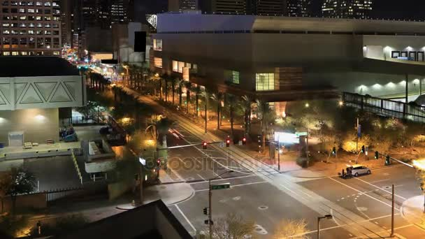 4 k Ultrahd éjszaka timelapse a Phoenix downtown