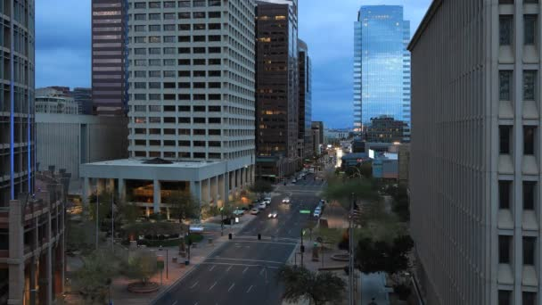 4k Ultrahd nap éjszaka timelapse kilátás belvárosi Phoenix