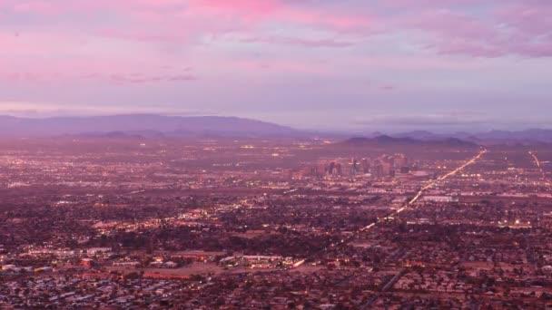 4 k Ultrahd Timelapse nézet a metró Phoenix nap éjszaka