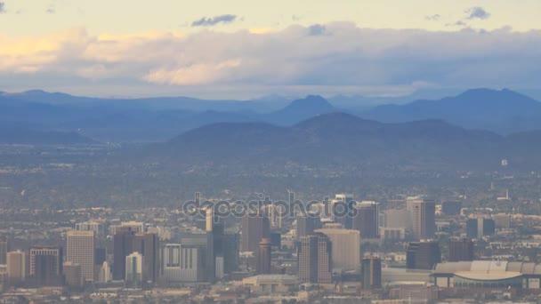 4 k Ultrahd Timelapse város Phoenix-völgyében, a nap