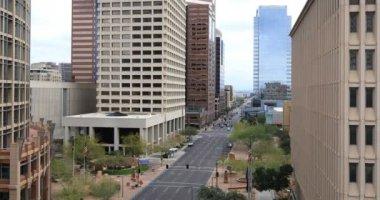 4k Ultrahd nézet lenézett a Phoenix city center