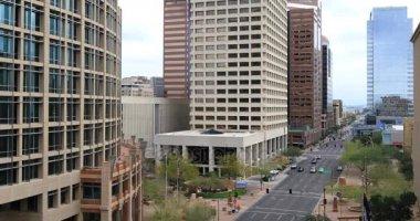 4k Ultrahd nézet lenézett a Phoenix downtown